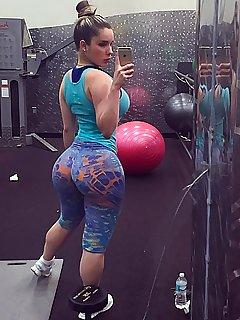 Big ass porn gym